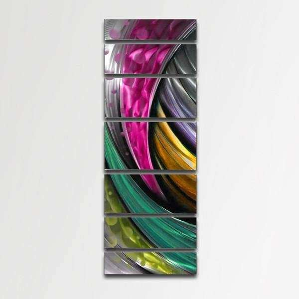 """Adrenaline"" Modern Abstract Metal Wall Art"
