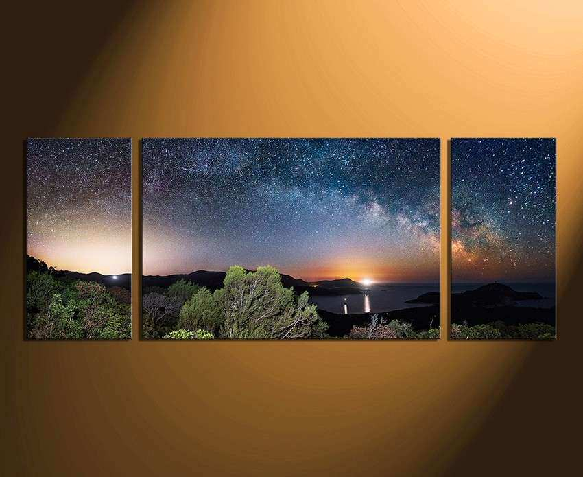 3 Piece Canvas Wall Art Panoramic Wall Decor Scenery