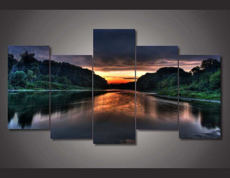 Wall Art Decor Room Decor 5 Panel Canvas Wall Art Print