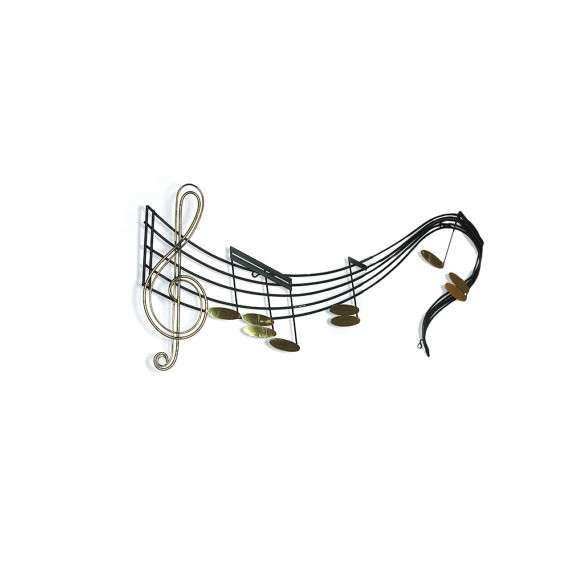 LIKE NEW Vintage Curtis Jere Musical Notes Wall Sculpture