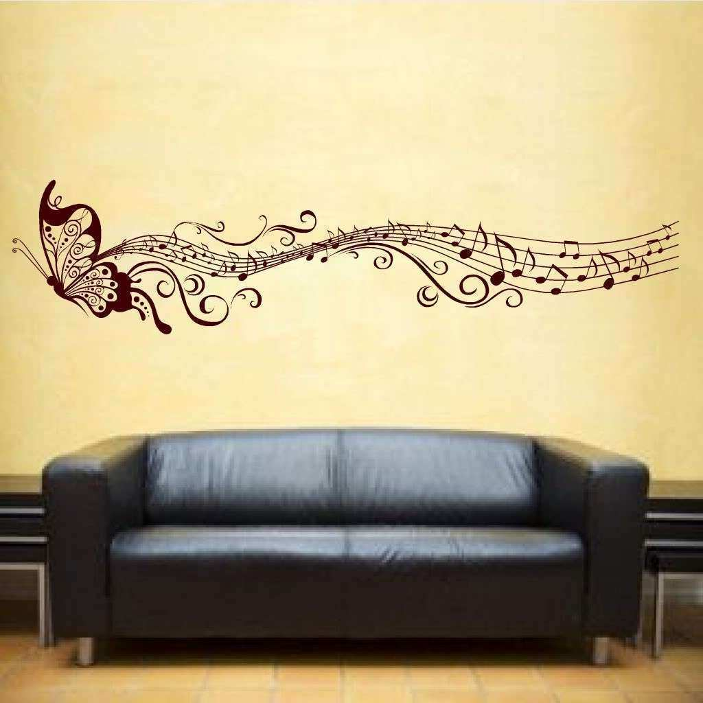 Music Notes Wall Art Decals Awesome Wall Art Ideas Design Yellow ...