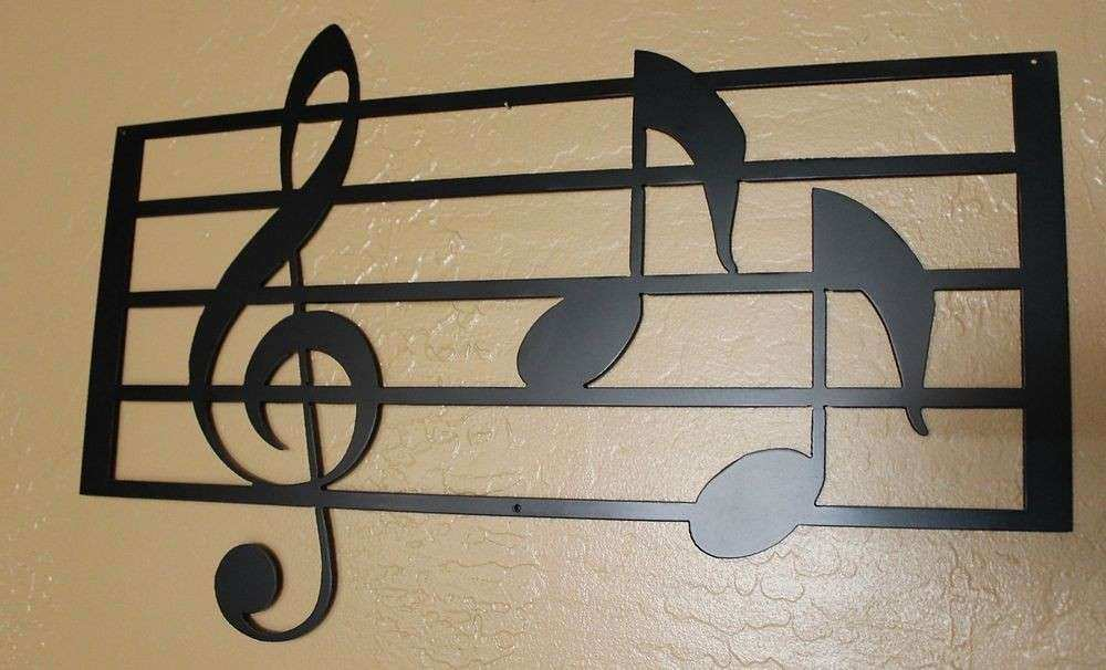 METAL WALL ART HOME DECOR MUSIC NOTES MUSICAL NOTES