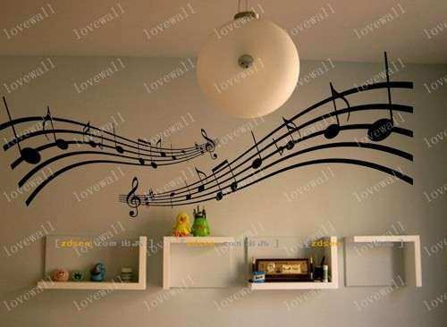 big Sheet Music note song notes home Art Decals Wall