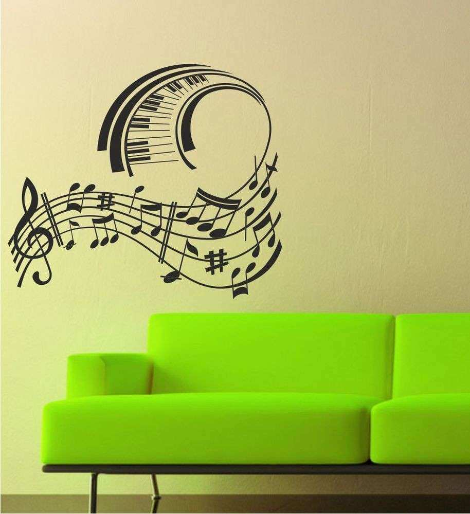 Music Piano Notes Wall Art Sticker Decal Graphic lv43