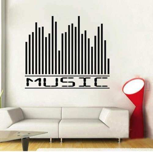 Music Equalizer Wall Decal Sticker Quote Wall Decals Vinyl