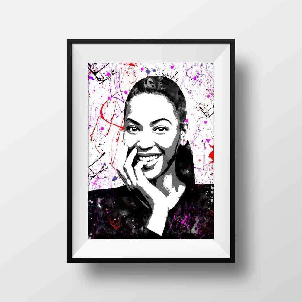 Music wall art home decor Beyonce poster print by BelugaStore
