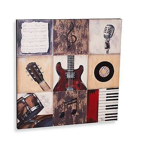 Rock The Music Printed Canvas Wall Art Bed Bath & Beyond