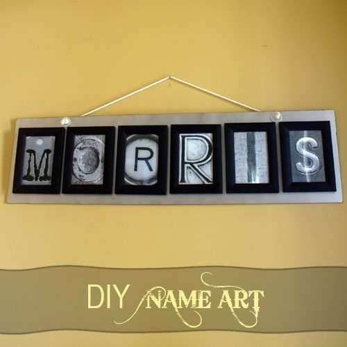 Name Wall Art Best Of Letter Art Tutorial | Wall Art Ideas