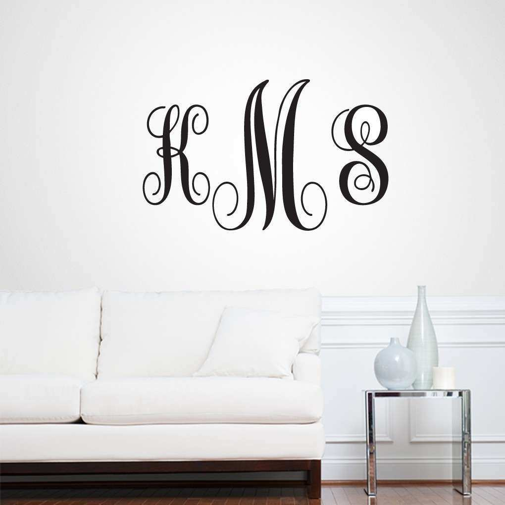 Full Name Fancy Monogram Wall Decals Wall Decor Stickers