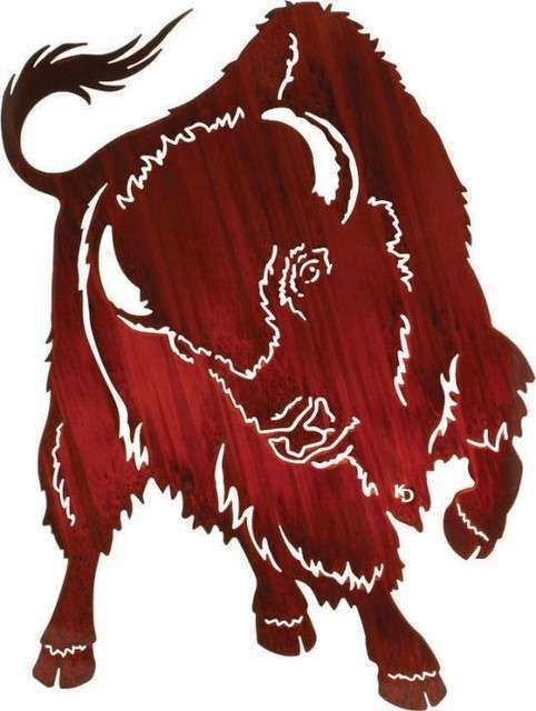 No Contest 30 inch Western Buffalo Metal Art Kathryn