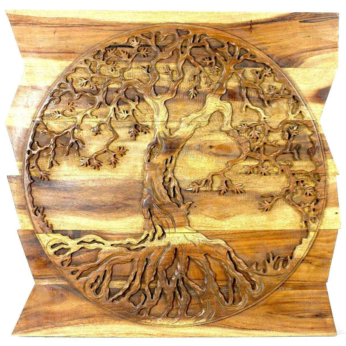 Natural Wood Wall Art Beautiful Home Design 87 Outstanding Carved ...