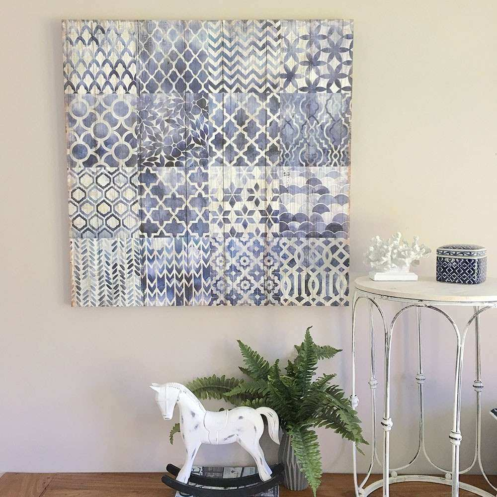 Navy Blue & White Wall Canvas Ready to Hang Wall Art