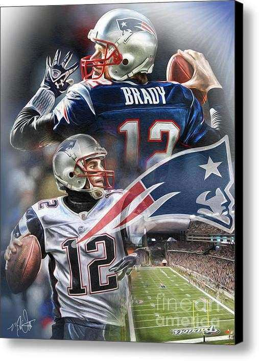 New England Patriots Canvas Print Canvas Art By Mike Oulton