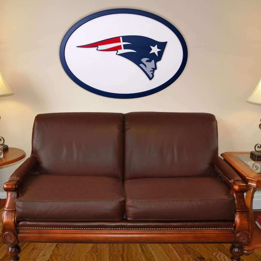 NEW ENGLAND PATRIOTS 46 INCH CARVED WALL ART