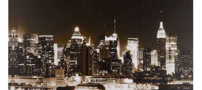"New York Skyline Wall Art Elegant 24""x36"" New York Skyline Canvas Wall Art"