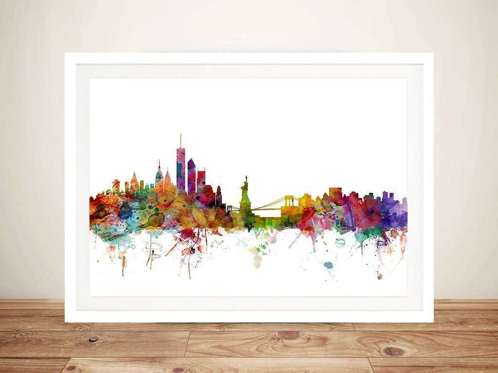 Nyc Framed Wall Art Lovely New York Skyline by Michael tompsett Wall Canvas Print