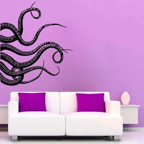 Octopus Wall Decals Tentacles Stickers Bathroom Wall Decor