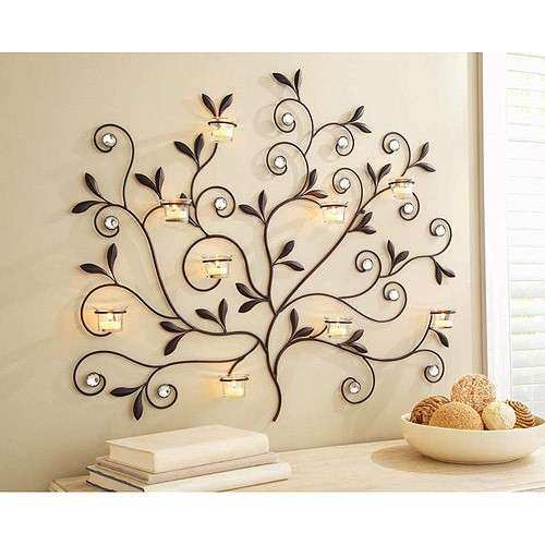 Better Homes and Gardens Tree Votive Sconce Oil Rubbed