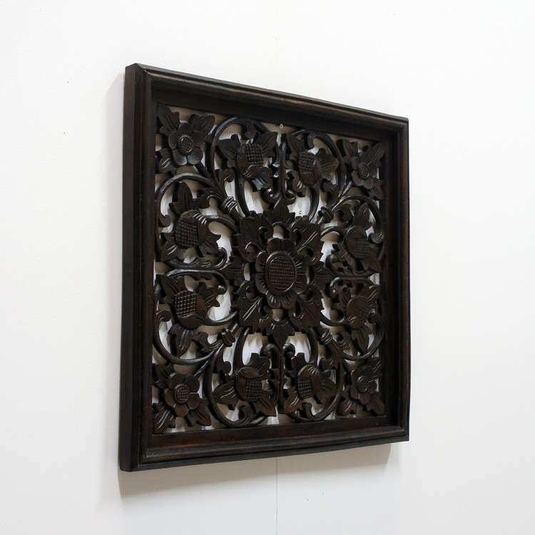 Wood Carved Wall Art Hand Carved Carved Wood Panel