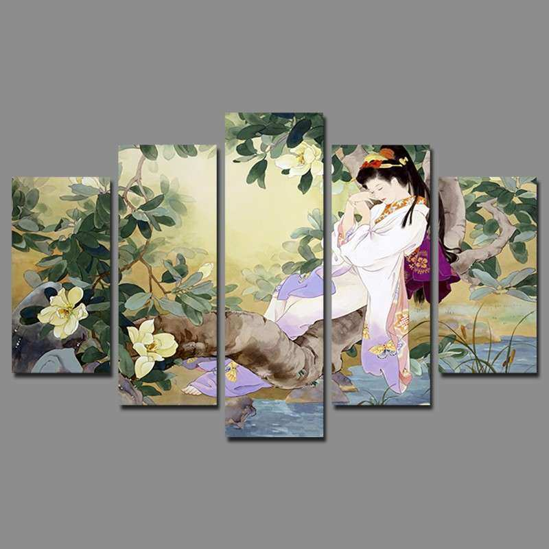 Retro Japan style sleeping Beauty pictures decoration