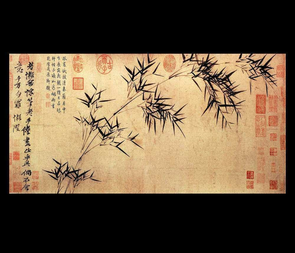 Oriental Wall Decor Fresh Chinese Calligraphy Painting Feng Shui Art ...