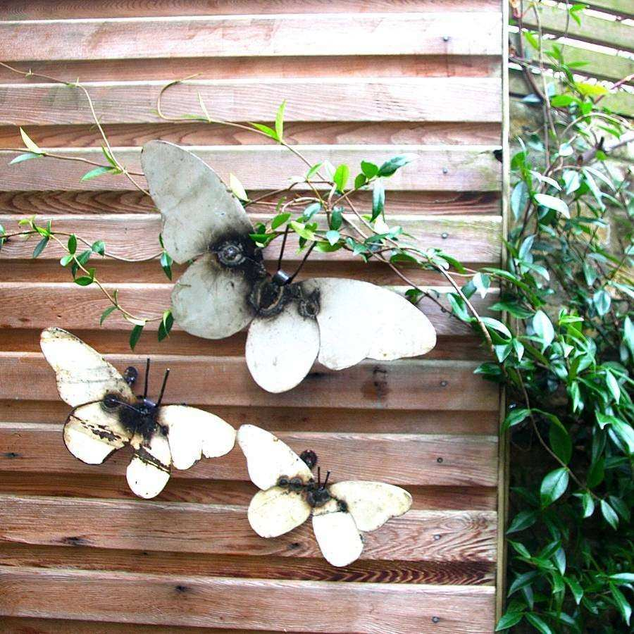 Outdoor Butterfly Wall Decor Awesome Metal Butterfly Garden Wall Art Set Of  Three By London