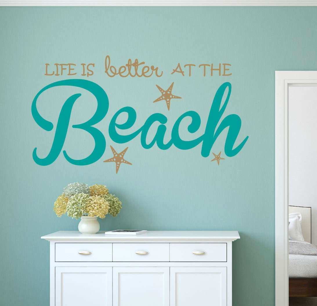 Life is Better Beach Wall Decal Sticker