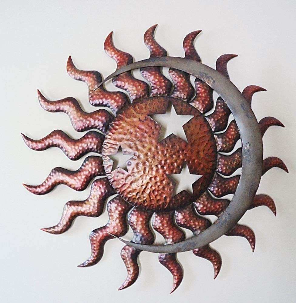 Sun And Moon Metal Wall Art