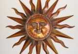 Outdoor Metal Wall Art Sun Lovely Copper Patina Sun Face Extra Sunburst Metal Wall Art
