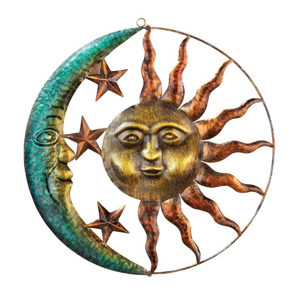 Sun and Moon Metal Wall Art by Collections Etc