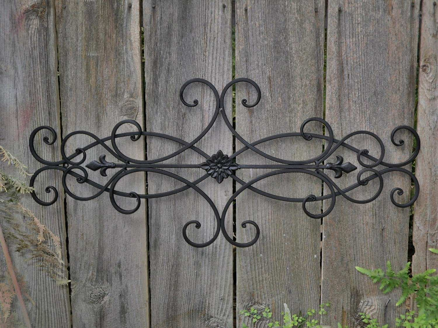 Outdoor Metal Wall Decor Awesome Good Art Wrought Iron 83 For Your Red Flower