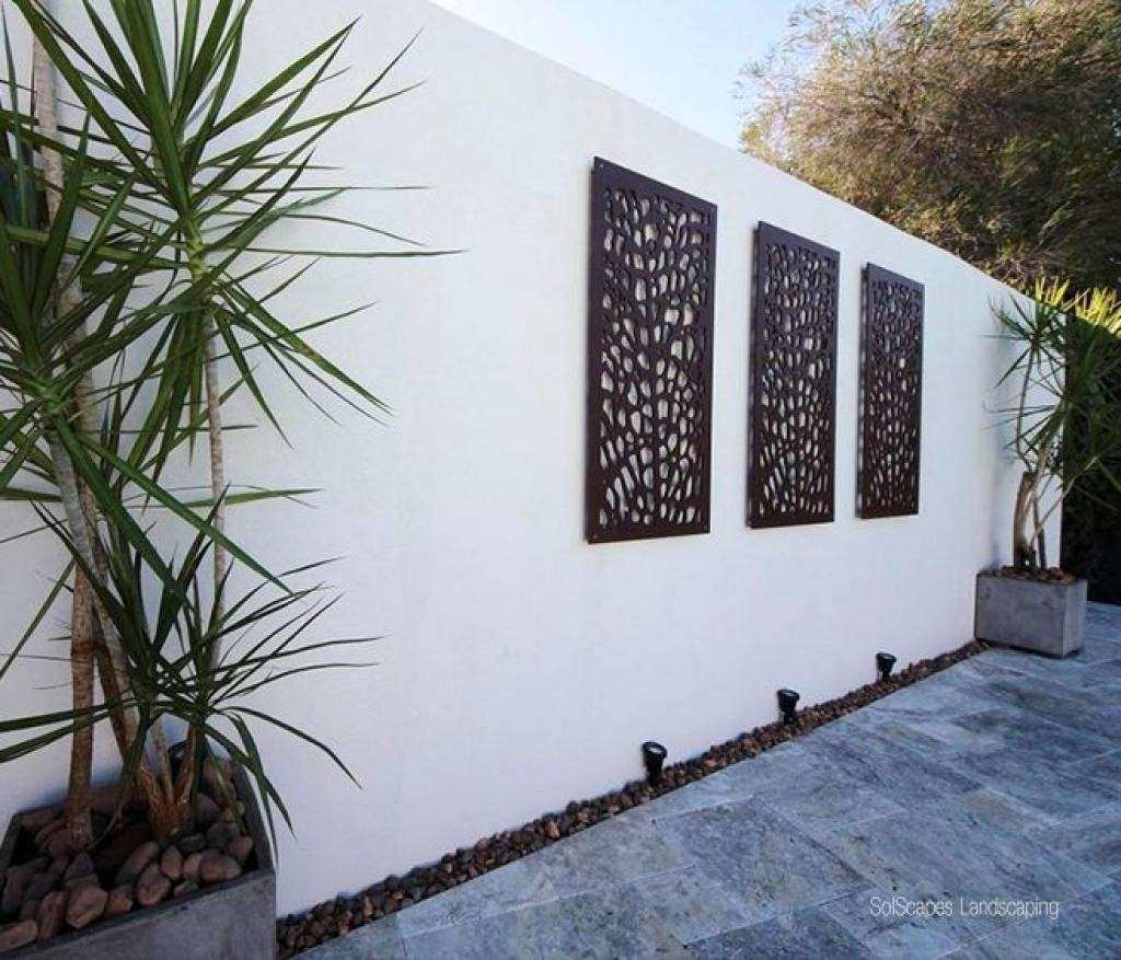 Outdoor Patio Wall Decor Ideas Luxury 20 Best Collection Of Modern Outdoor  Wall Art