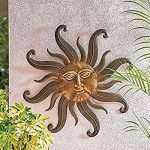 Lovely Outdoor Sun Wall Decor