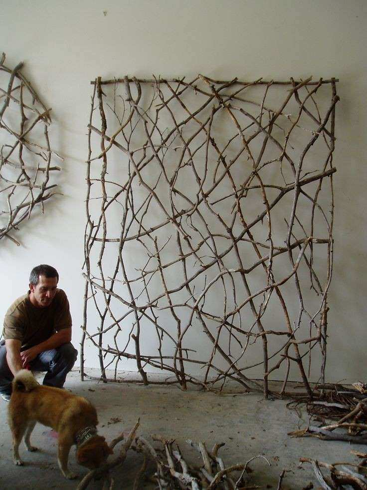 Outdoor Wall Art Decor Inspirational Twig Woven Wall Sculpture by ...