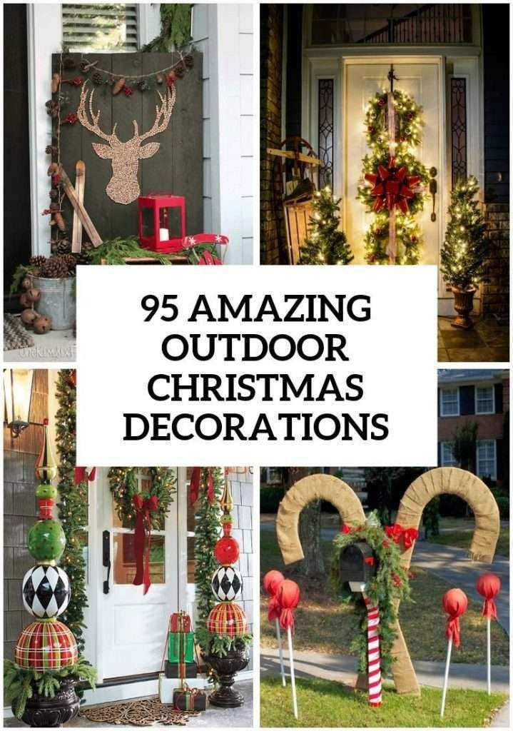 Related Image From Outdoor Wall Christmas Decorations Elegant 95 Amazing Outdoor Christmas Decorations #44010