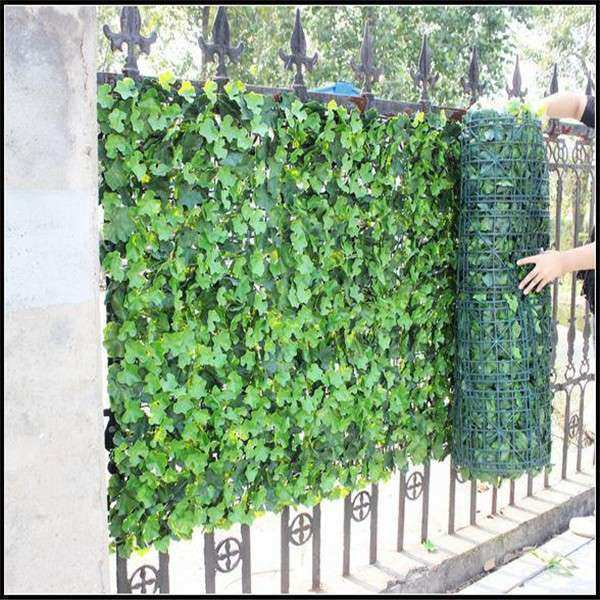 Natural Artificial Green Fence Vertical Green Wall For