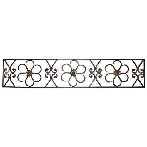 Outdoor wrought iron wall art Estate buildings