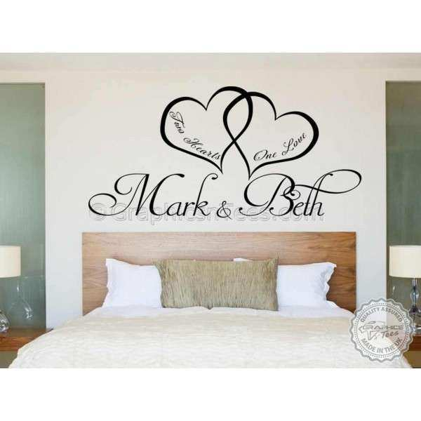 Bedroom Wall Art Personalised Bedroom Wall Sticker Two
