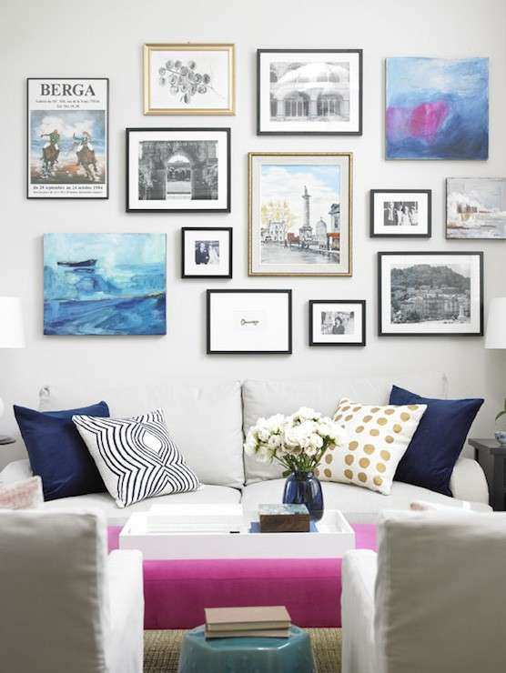 Over The Sofa Art Transitional living room Para