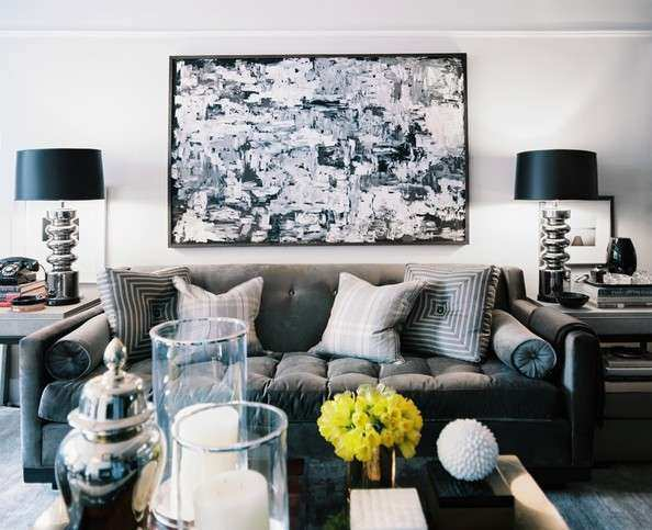 Black White And Grey Living Room