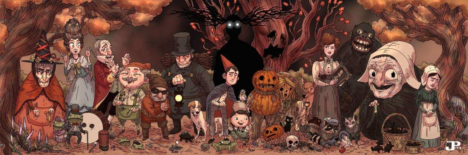 Art by Jacob Perez Over the Garden Wall