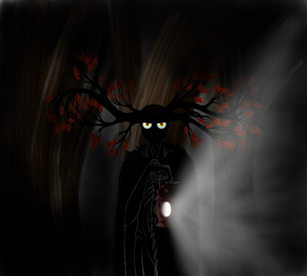 Over the garden wall The Beast with a lantern by