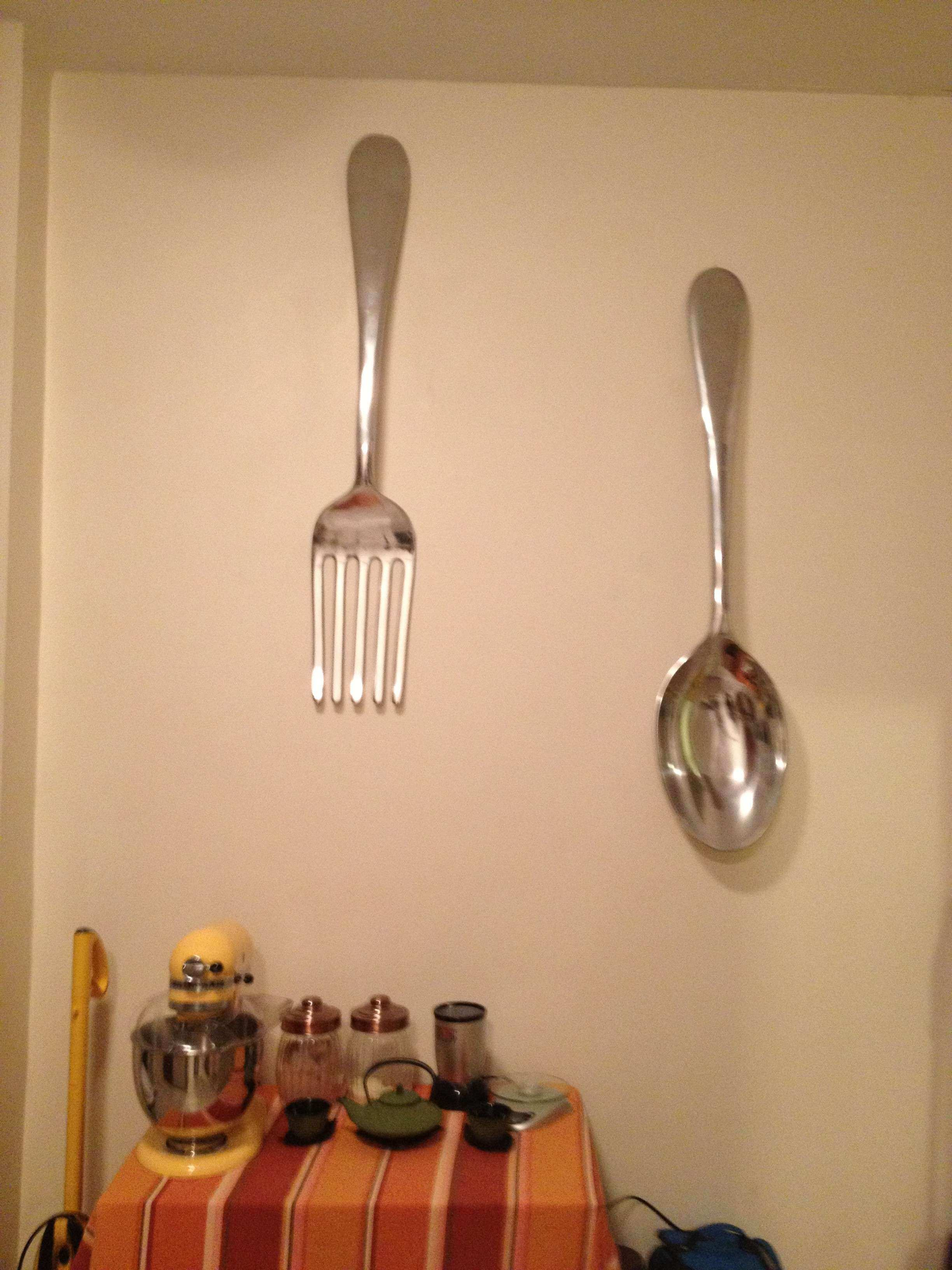 Very best Oversized fork and Spoon Wall Decor Luxury Spoon and fork Wall Art  TE44