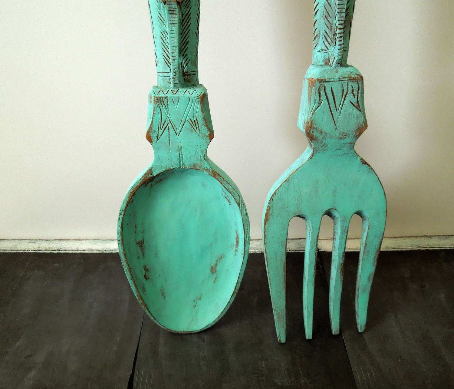 Oversized Fork And Spoon Wall Decor Unique