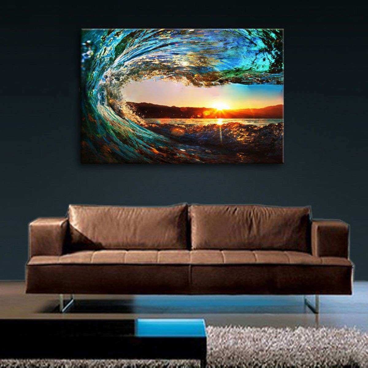 Oversized Framed Wall Art Luxury Canvas Prints Wall Art Home Decor Sea Wave