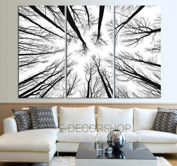 Oversized Framed Wall Art Unique Wall Art Canvas Prints Dry Tree ...