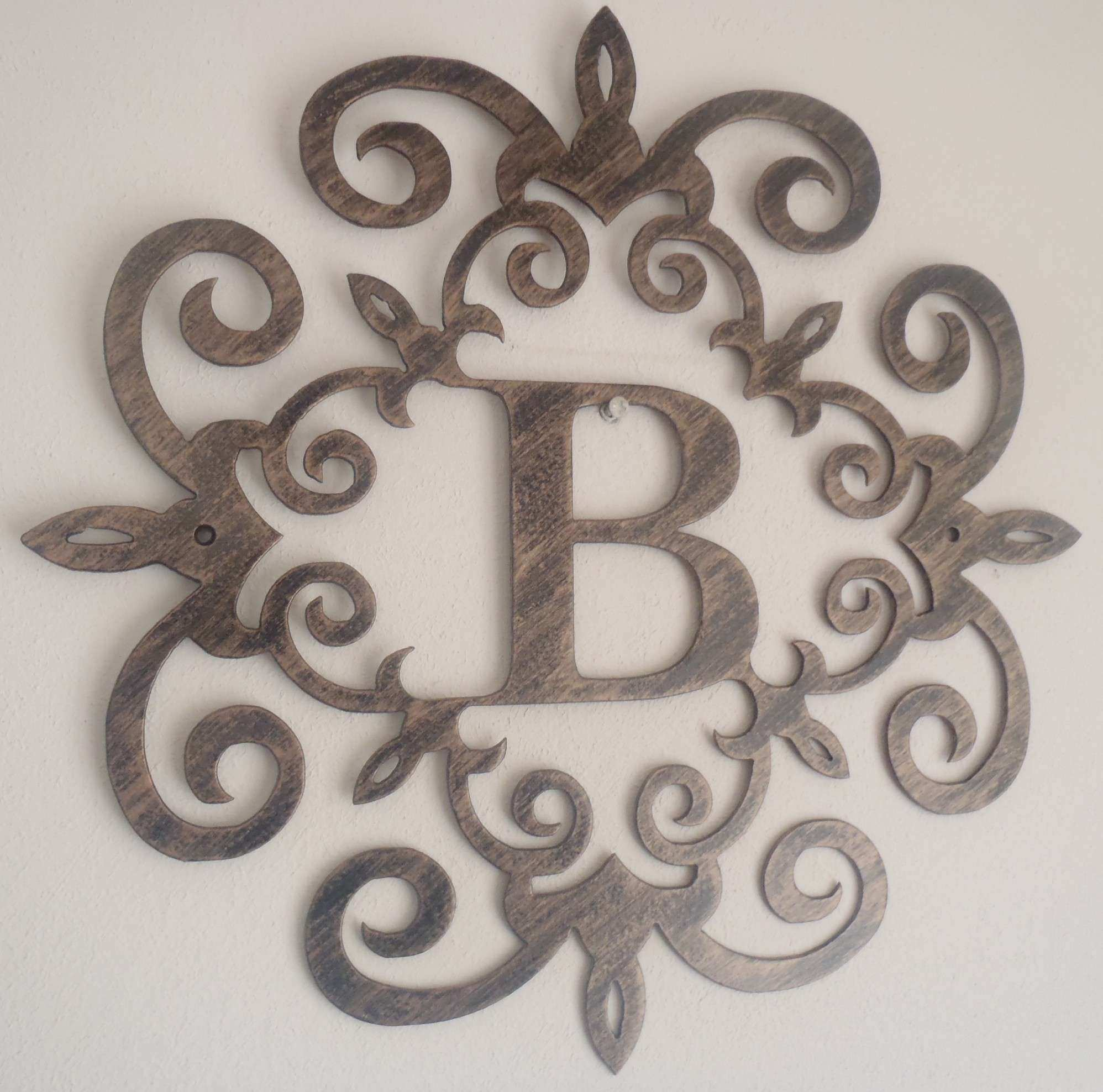 B Metal Letters For Wall Decor Decorating