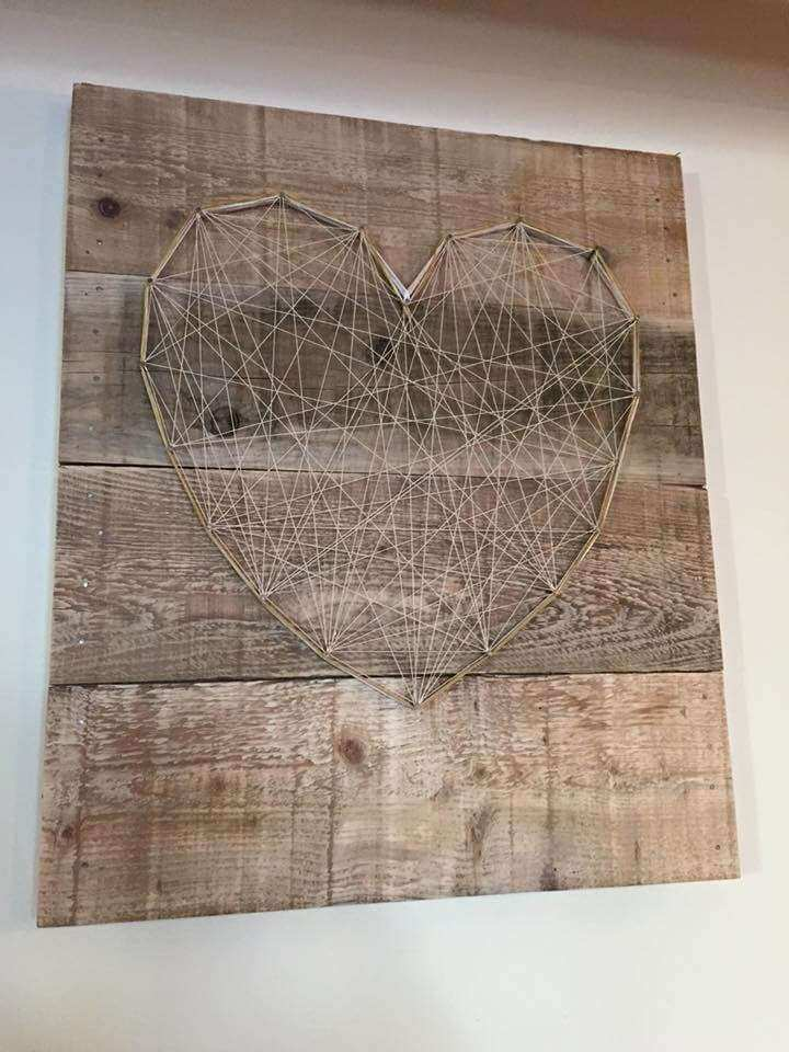 Wall Art Decor Made from Pallets