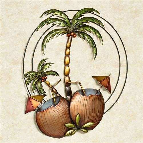 Bedroom decorative accessories palm tree metal wall art