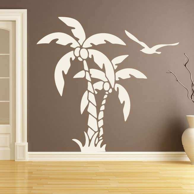 Palm Trees Nature at The Beach Wall Art Stickers Wall